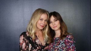 Christina Applegate pictured in a photoshoot alongside 'Dead to Me' co-star Linda Cardellini