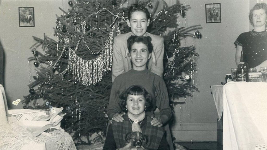 Alex Trebek as a child with his sister