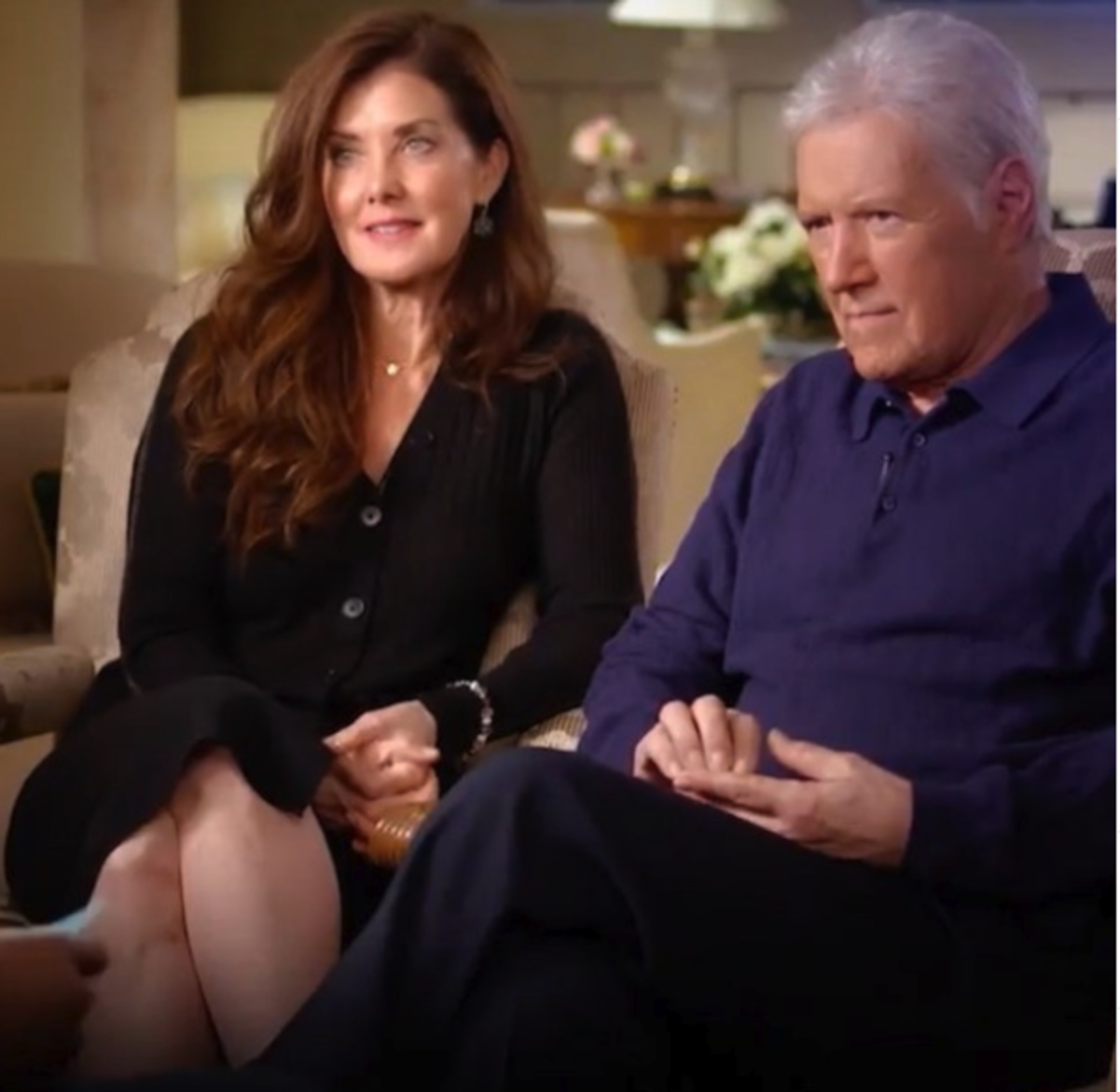 Alex and Jean Trebek in an interview