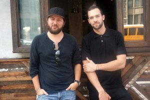 Matthew Trebek pictured alongside his business partner, Nodar Mosiashivili