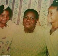 Rihanna at a young age with her grandma