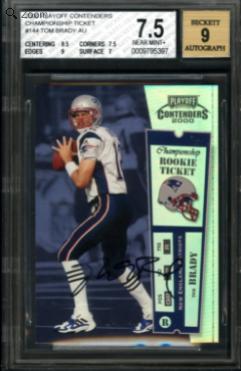 Tom Brady rookie card