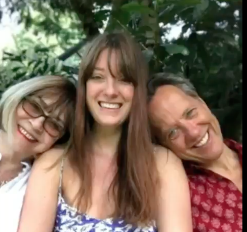 Richard E Grant with wife Joan and their daughter Olivia