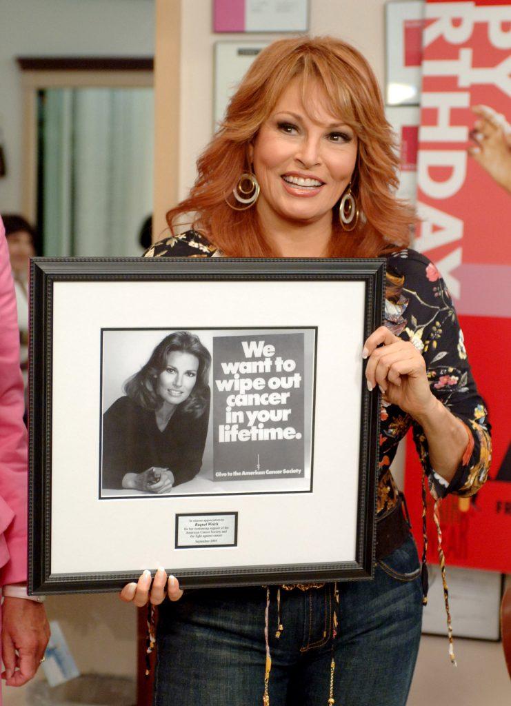 Raquel Welch cancer philanthropy